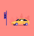 city traffic man driving car stand on traffic vector image