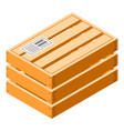 closed wood crate icon isometric style vector image vector image