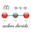 CO2 molecule vector image vector image