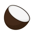 coconut half icon vector image