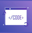 code editor icon web design coding vector image