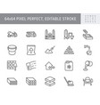 concrete line icons include vector image