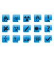 Danger sticker icon sign set vector image vector image