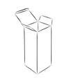 Drawing of box vector image vector image