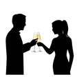 Drinking Couple Silhouettes vector image
