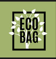 eco bag logo with cute tree vector image vector image