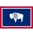 Flag of Wyoming in correct size and colors vector image vector image
