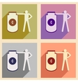 Flat with shadow concept icon man and purse for