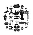 girder icons set simple style vector image vector image