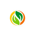 green leaf recycle logo vector image vector image