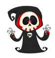 grim reaper cartoon character isolated vector image vector image