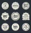 high quality labels collection vector image vector image