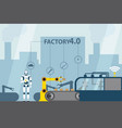 industrial internet of things vector image vector image