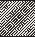 interlacing lines maze lattice ethnic monochrome vector image