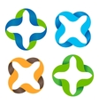 Isolated abstract colorful cross logo set vector image vector image
