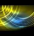 magic neon circle shape abstract background shiny vector image