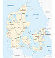 map main railroad tracks in denmark vector image vector image