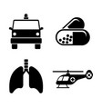 medicine simple related icons vector image vector image