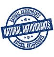 natural antioxidants blue round grunge stamp vector image