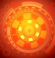 Orange Technology Background vector image