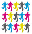 origami male figures colored in print colors vector image vector image