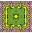 palms border kvadrat 3 380 vector image vector image