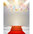 Podium on studio background EPS 10 vector image vector image