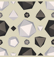 polygon surface seamless pattern vector image vector image