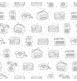 retro seamless pattern with antique tech radio vector image vector image