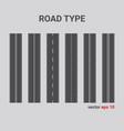 road type vertical straight asphalt roads vector image