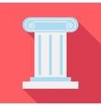 Roman pillar icon flat style vector image vector image