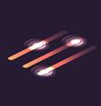 set isometric glowing sliders infographic vector image vector image