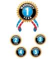 set medal vector image vector image