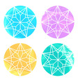 Set of 4 watercolor diamonds on white background vector image vector image