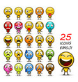 set of emoji vector image vector image