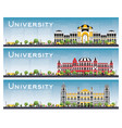 set of university campus study banners vector image
