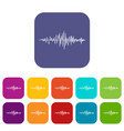 sound wave icons set vector image vector image