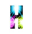sparkler firework letter isolated on white vector image