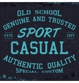 Sport casual print vector image vector image
