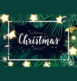 tropical christmas on beach design vector image