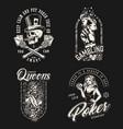 vintage monochrome casino badges vector image vector image
