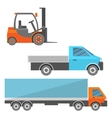 Warehouse cars set vector image vector image