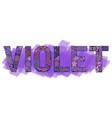 word violet decorative zentangle object vector image vector image