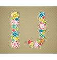 Floral alphabet vector image