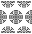 Seamless pattern with hand drawn mandalas vector image