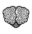 brain silhouette monochrome with top view vector image