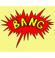 Comics style stamp of bang Sticker emotion of vector image