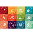 Set of zodiac signs in flat design vector image