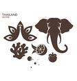 Thailand Animal Fruit vector image