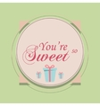 Valentines day and Wedding Set Vintage romantic vector image